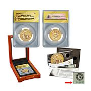 2015 EU70 ANACS American $1 Coin and Currency Set