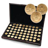 1999-2009 Complete Set of 24K Gold-Plated State Qtrs