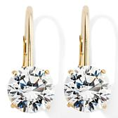 Absolute 14K Round Leverback Earrings