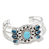 Chaco Canyon Turquoise and Blue Topaz Cuff Bracelet