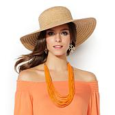 IMAN Global Chic Woven Straw Sun Hat