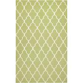 Rizzy Home Swing Hand Woven Dhurrie Rug Lime