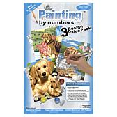Royal Langnickel Junior Small Paint By Number Kit 3-pac
