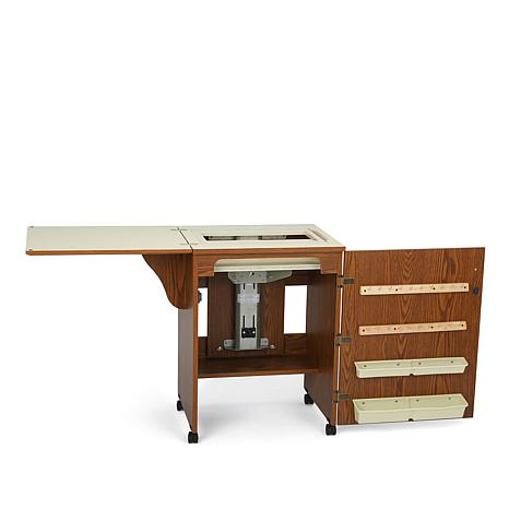 Arrow Compact Airlift Sewing Machine Cabinet Oak