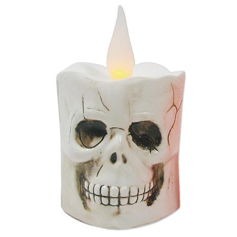 Battery-Operated Skull Candle