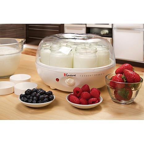 Euro cuisine yogurt maker 7537100 hsn for Cuisine yourte