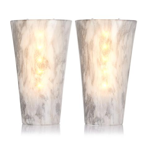 Led Wall Sconce Battery Powered Stone : It s Exciting Lighting 2-pack Battery-Powered LED Wall Sconces HSN