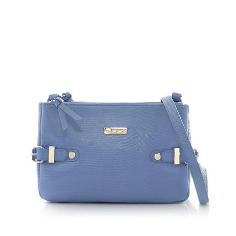 JOY Luxe Leather Lizard-Embossed City Collection Crossbody with RFID ... fb02a09990
