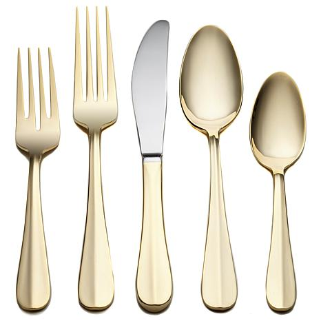 Joy Mangano 45-piece Gold-Plated Flatware Set - Service for 8 at HSN.