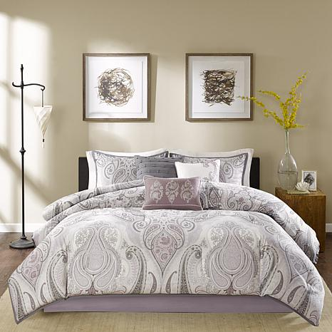 Madison Park Samir Purple Comforter Set - King - 7903356 | HSN