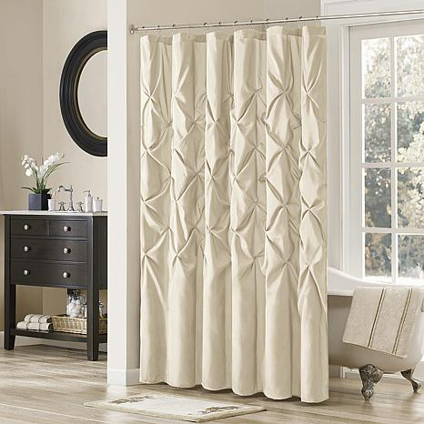 madison park vivian shower curtain   ivory   7454229 hsn