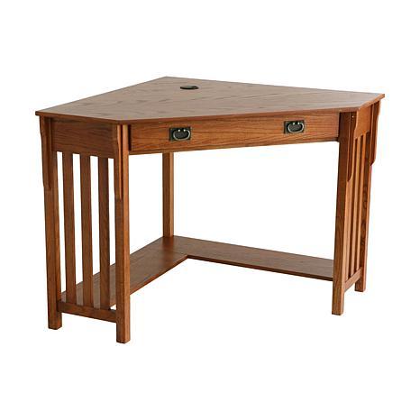 Oak Corner Computer Desk 6408542 Hsn