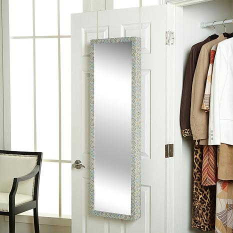over the door jewelry armoire with full length mirror hsn. Black Bedroom Furniture Sets. Home Design Ideas