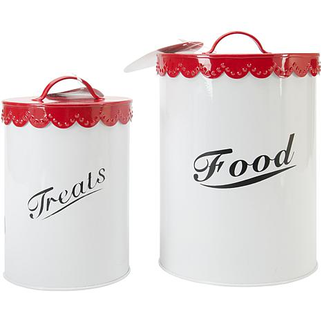 Pet Food and Treat Canister Set