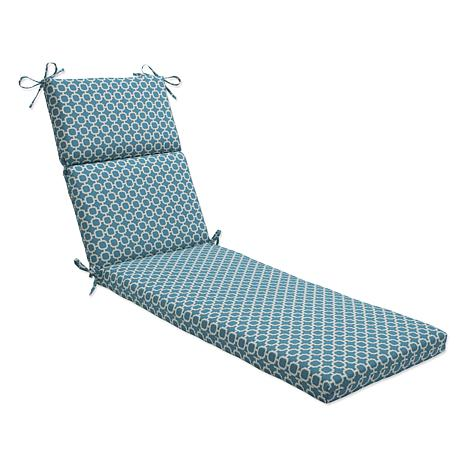 Pillow perfect outdoor hockley chaise lounge cushion for Chaise cushion clearance