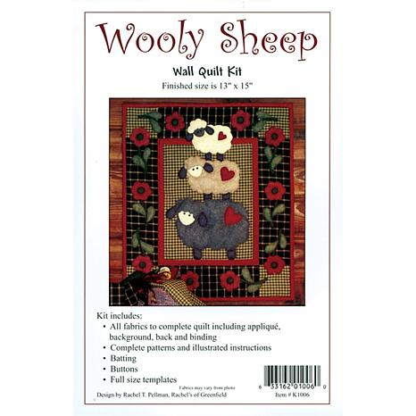 Rachel's of Greenfield Wooly-Sheep Wall-Quilt Kit
