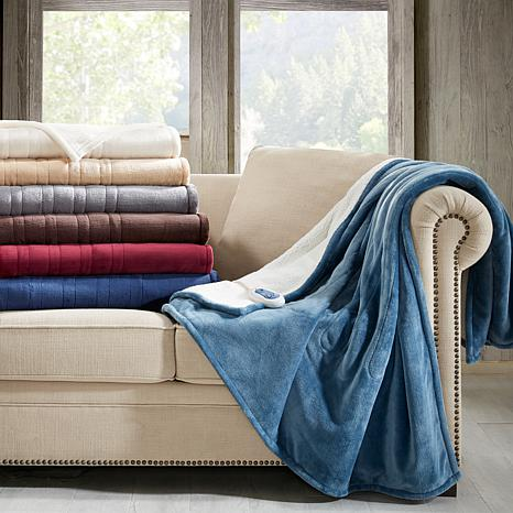 Woolrich Microlight Plush To Berber Heated Blanket