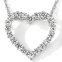 "1.20ct Absolute™ Prong-Set ""Heart"" Pendant w/ 18"" Chain"