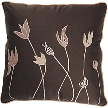 "18"" x 18"" Tulip Pillow - Brown/Tan"