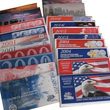 1999-2008 P- and D-Mint State Quarter Mint Sets