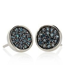 .25ct Diamond Sterling Silver Stud Earrings