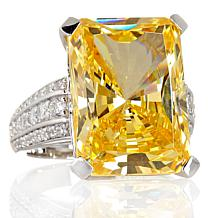 27.17ct Absolute™ Canary Octagon-Cut Cocktail Ring