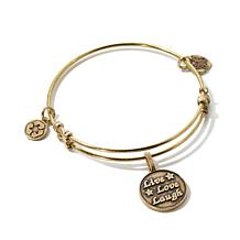 "Angelica ""Live, Love, Laugh"" Charm Expandable Bracelet"