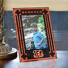 Art Glass Team Photo Frame - Cincinnatti Bengals - NFL