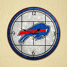 Art Glass Wall Clock - Buffalo Bills