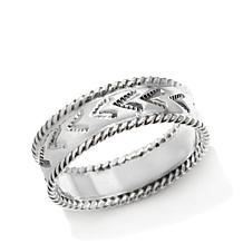 Chaco Canyon Southwest Sterling Silver Rope-Design Ring