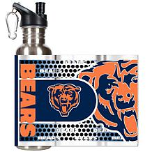 Chicago Bears Stainless Steel Water Bottle with Metalli