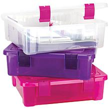 Creative Options File Tub - Clear/Magenta