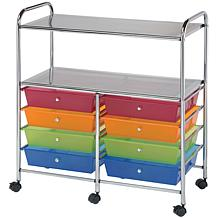 Double Storage Cart W/8 Drawers - 31.74X35X14.75 Multic