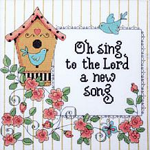 "Heartfelt A New Song 10"" x 10"" Counted Cross Stitch Kit"