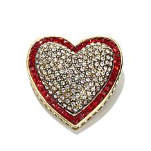 "Heidi Daus ""Heartbreakers"" Crystal Heart-Shaped Pin"