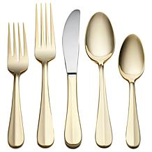 Joy Mangano 45pc Gold-Plated Flatware Set