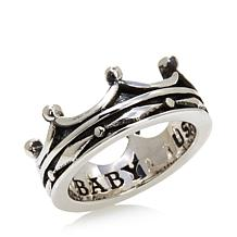 King Baby Jewelry Sterling Silver Continuous Crown Ring