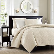 Madison Park Quebec Coverlet Set Full/Queen Ivory