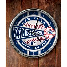 MLB Chrome Clock - New York Yankees