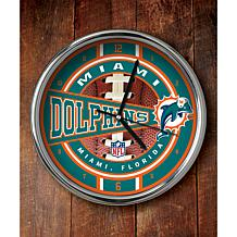 NFL Chrome Clock - Dolphins