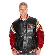 NFL Pick Six Leather-Like Varsity Jacket