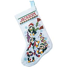 Penguin Joy Counted Cross-Stitch Stocking Kit- 14-Count