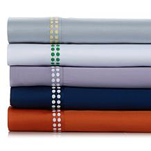 Richard Mishaan 100% Cotton Embroidered Dot Sheet Set