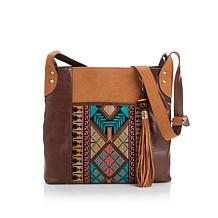 Sharif Moroccan Tapestry Feed Bag with Suede Tassel