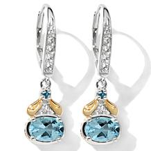 Victoria Wieck Aqua and Gem Earrings