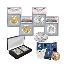 2016 ANACS 69 FDOI Ronald Reagan Coin and Chronicles