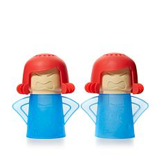 Angry Mama Set of 2 Microwave Steam Cleaners
