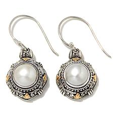 Bali Designs Mabé Pearl 2-Tone Sterling Silver Earrings