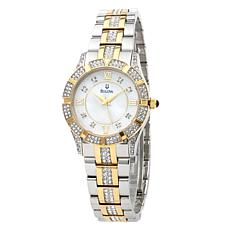 Bulova Ladies' Mother-of-Pearl Crystal Bracelet Watch