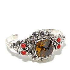 "Chaco Canyon Couture Multigem ""Sunrise"" Cuff Bracelet"